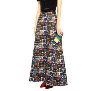 Keith Haring x Alice + Olivia Ursula embellished maxi skirt