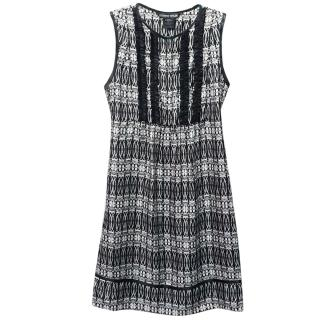 Thomas Wylde Silk Skull Pattern Knee Length Sleeveless Dress