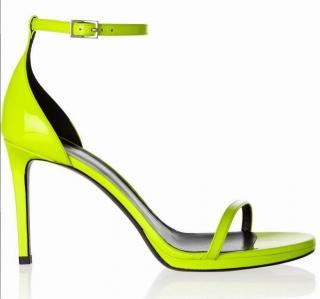 Saint Laurent Neon Patent leather Sandals