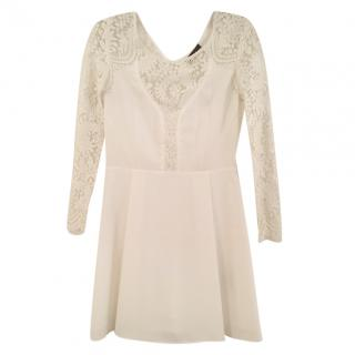 The Kooples white lace mini dress