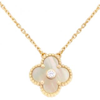 Van Cleef & Arpels diamond set alhambra necklace, limited edition
