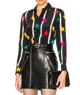 Saint Laurent Silk Star Print Shirt