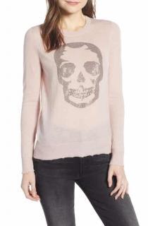 Zadig & Voltaire Deluxe Cashmere Skull Print Sweater