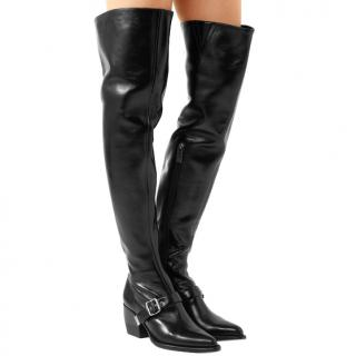 Chloe Rylee leather over-the-knee boots