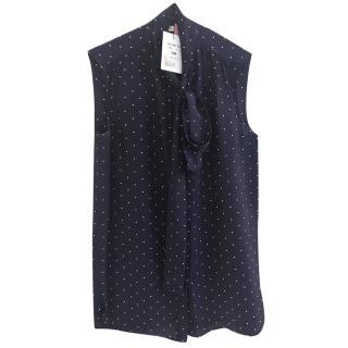 Celine pussy bow silk blouse