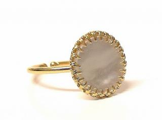 Medicine Douce mother of pearl ring