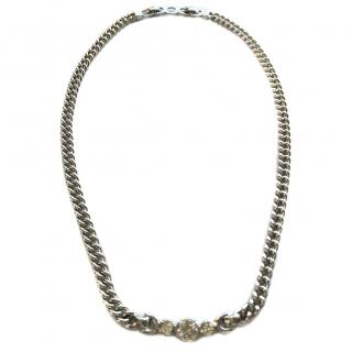 Christian Dior Rhodium Plated Vintage Necklace