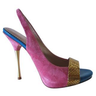 Jean-Michel Cazabat Slingback Stiletto Sandals
