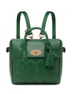 Mulberry Mini Cara Delevingne Green Quilted Lamb Nappa