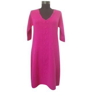 Max Mara Pink Knit Wool Dress