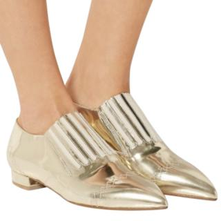 Laurence Dacade Gaia Mirrored Gold Flats