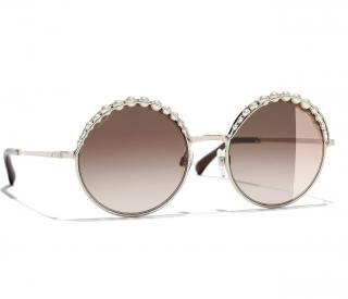 Chanel Round Pearl Sunglasses CH4234H - Current
