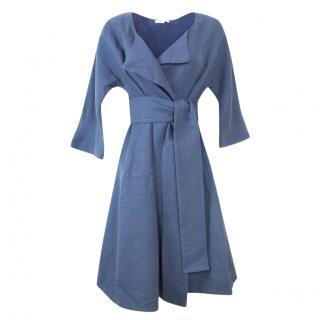 Ba&sh linen blend navy coat