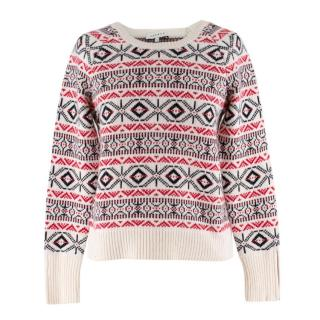 Sandro Fair Isle knit sweater