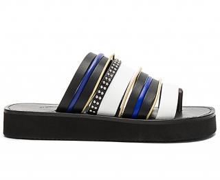 3.1 Phillip Lim 'Eva' studded leather strap platform slides