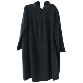 Prada Black Silk Blend Shift Dress