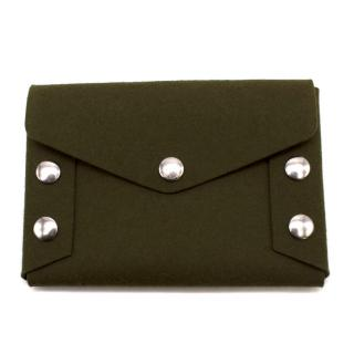 Mulberry studded felt clutch