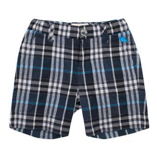 Burberry Boy's Plaid Shorts