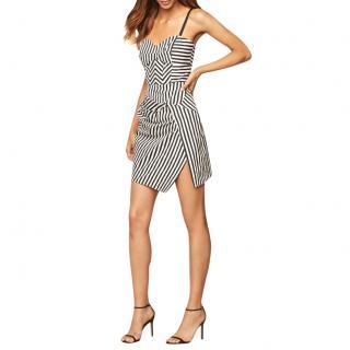 Milly Black & White Striped Mini Dress