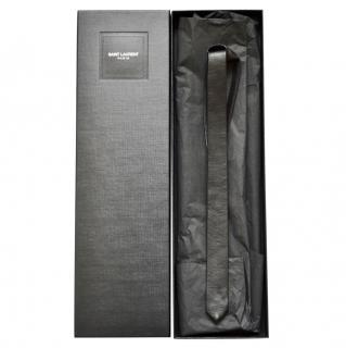 Saint Laurent runway black leather tie