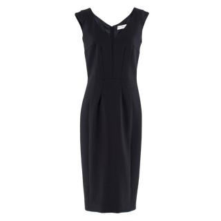 Amanda Wakeley Navy Fitted Midi Dress