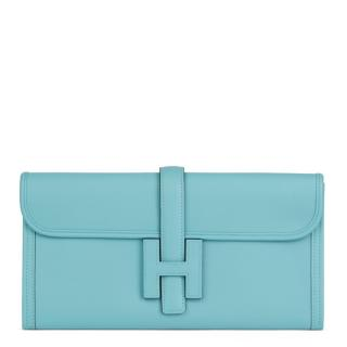 Hermes Blue Celeste Swift Leather Jige Elan 29