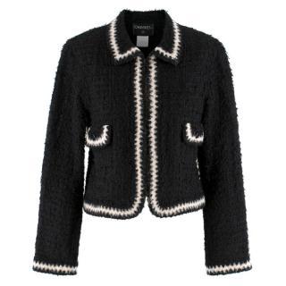 Chanel Runway point-collar tweed jacket