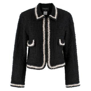 Chanel Runway point-collar tweed jacket