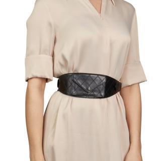 Black Quilted Lambskin Vintage Timeless Belt Bag