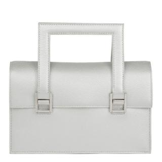 Hermes Silver Metallic Chevre Leather 365 PM