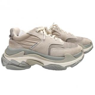 Balenciaga Triple S  - Light Grey Suede