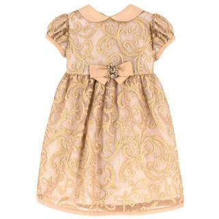 Lesy girls lurex-embroidered dress
