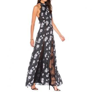 Majorelle Black Floral Isabella Dress