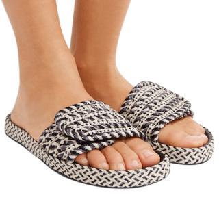 Isabel Marant Etoile Enki Woven Rope Slides Sandals w/Box/Dustbags