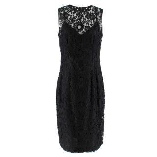 Dolce & Gabbana lace-panel polka-dot print dress