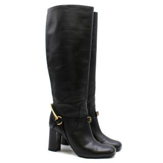 Gucci stirrup-heel leather boots