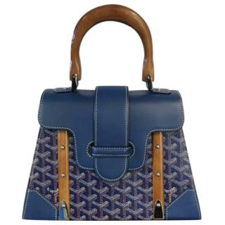 Goyard Blue Saigon PM Bag