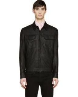 Helmut Lang Men's Leather Overshirt