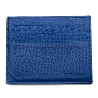 Prada Blue Leather Cardholder