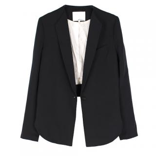 Phillip Lim cropped-back silk-faille jacket