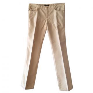 Roberto Cavalli Gold Denim Pants