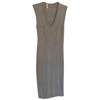 T by Alexander Wang Grey Jersey Dress