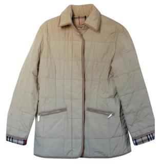 Burberry Beige Quilted Jacket