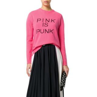 Valentino 'Pink Is Punk' distressed intarsia wool-blend sweater