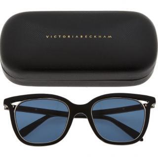 Victoria Beckham Cut Away Black Sunglasses