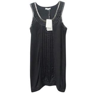 Day Birger & Mikkelsen Black and Silver Beaded Tunic Dress