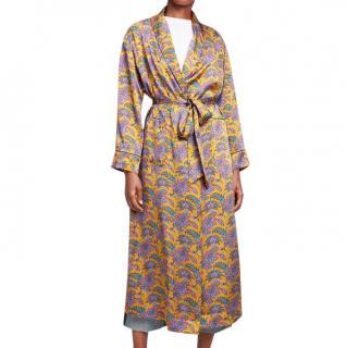 Liberty London Florence Leontine Silk Satin Long Robe