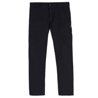 Helmut Lang Black Cargo Trousers