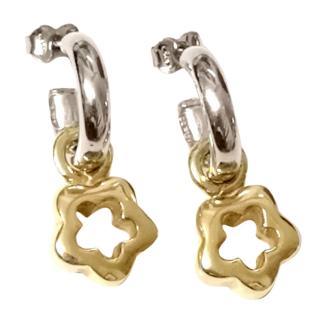 Bespoke Italian 18ct Gold & Sterling Silver Earrings