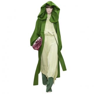 Valentino 2018 runway green wool coat